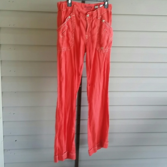 enjoy best price coupon code superior quality Miss Me Linen Red Pants Large